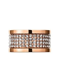 Dyrberg Kern EMILY Rose Gold Crystal Ring Crystal