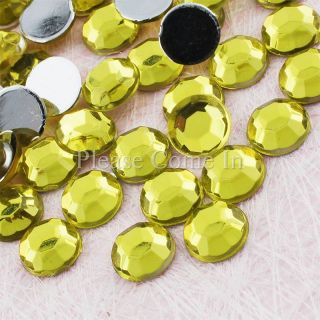 250 to 2 500 7mm Flat Back Round Rhinestones Crystal Gem Scrapbook