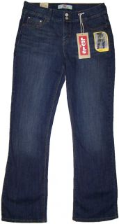 Levis 526 Womens Figure Enhancers Slender Boot Cut Jeans Dark Wash