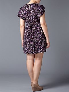 Lovedrobe Ditsy floral print dress Purple