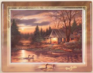 Quiet of The Evening Terry Redlin Collector Plate with Numbered C O