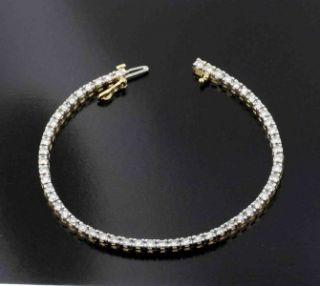 Carat Quality Diamond Tennis Bracelet Fancy Solid Yellow Gold