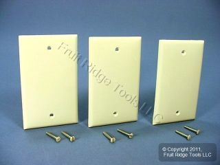 Leviton Almond 1 Gang Blank Unbreakable Wall Plates Box Covers 80714