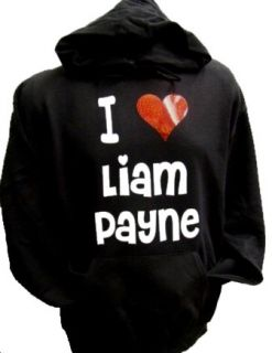 Liam Payne Black Hoodie Red Heart One Direction Medium