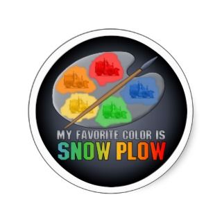 Favorite Color Is Snow Plow Truck Sticker