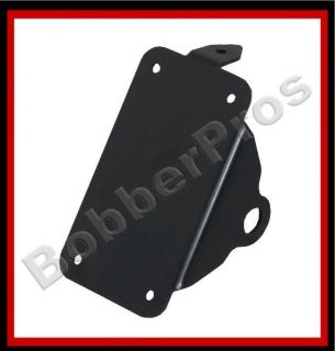 Vertical Black License Plate Bracket Bobber Rat Bike Chopper Harley
