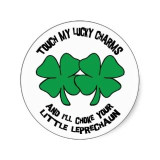 My Lucky Charms Gifts Round Stickers