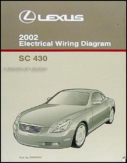 2002 Lexus SC 430 Wiring Diagram Manual Original SC430