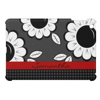 Flowers and Polka Dot Pattern iPad Mini Case