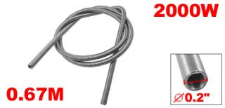 2000W Kanthal A1 Heating Element Coil Heater Wire Line 67cm Length 0