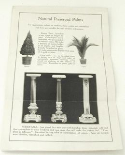 1920s Ad Sol Levin Co Store Display Valences Artificial Flowers Dried