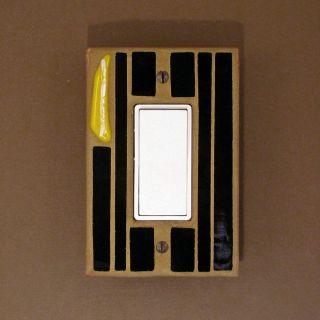 Light Switch Cover Plate   Black Stained Glass   Switch Plate   Single
