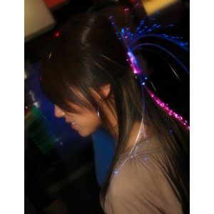 Sparkle Optic Fiber Hair Light Extension Party Holiday Halloween Club