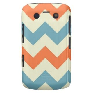 Orange blue chevron zigzag stripes zig zag pattern blackberry bold