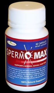 Spermomax More Sperm Semen Volume Men Libido Booster