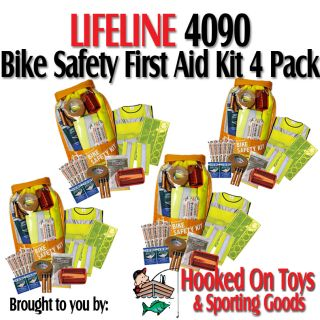 Lifeline 4090 4pk Bike Safety First Aid Kit 17pc High Visibility Road