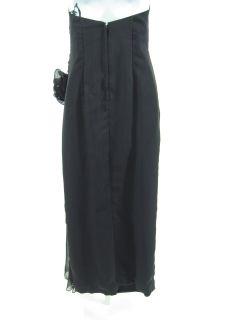 Lillie Rubin Black Strapless Evening Dress Beading Sz M