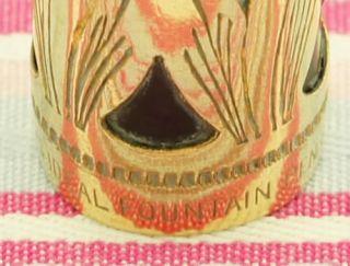 Vintage Waterman Ideal Filigree Basket Gold Overlay 0552 1 2V Fountain