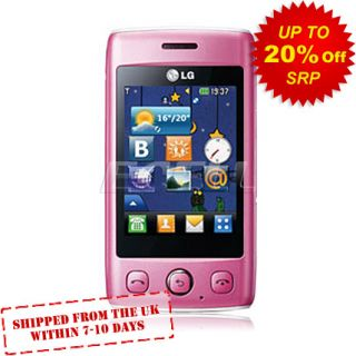 Boxed SIM Free Factory Unlocked LG T300 Mobile Phone – Pink & White