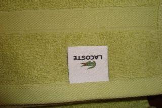 Lacoste Bath Towel 30 x 58 Cotton Lime Green 1st Authentic