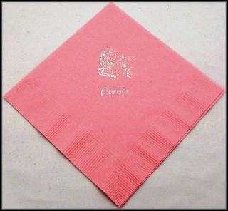 50 Personalized Birthday Beverage Napkins Custom Printed Birthday