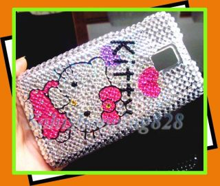 Silver Cute Hello Kitty Bling Hard Protect Case Cover LG T Mobile G2X
