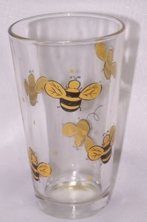 Bumblebee 16oz Drinking Tumblers Glasses Libbey Glass