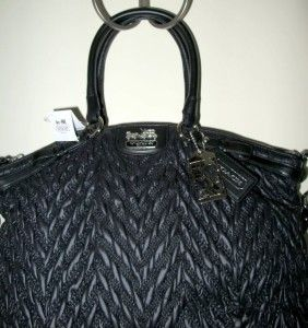 Coach Madison Nylon Chevron Lindsey Black Special Edition 18634 $398