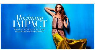 2012 $398 BCBG Max Azria Lilyan Strapless Color Block Pleated Maxi
