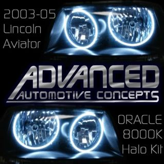 03 05 Lincoln Aviator HID 8K Headlight Halo Demon Eyes