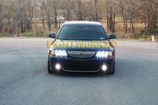 Lincoln LS 03 07 Headlights Angel Eyes Demon Eyes Halo LED DRL HID