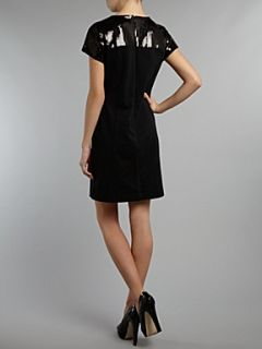 Michael Michael Kors Short sleeve sequin detail dress Black