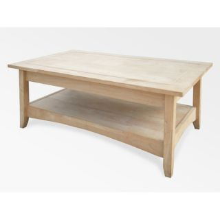 Concepts Unfinished Wood Bombay Tall Coffee Table with Lift Top