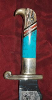 Linder Skinner Knife with Blue Mountain Turquoise