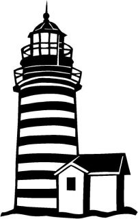 Lighthouse Vinyl Decal Car Truck Window Sticker