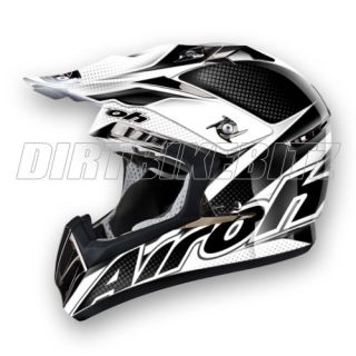 2012 Airoh CR900 Motocross Helmet Linear Black