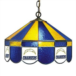 Logo Stained Glass Pub Light San Diego Chargers Swag 18 40 26