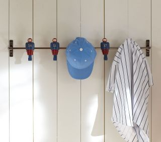 New Pottery Barn Kids Football Peg Rack