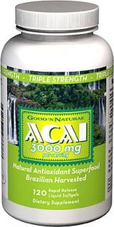 Triple Strength Brazilian Acai Berry 3000 MG Natural Antioxidant Super