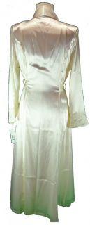 New York Bridal Gleaming Satin Lace Nightgown Robe Set Tousseau
