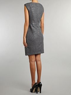 Michael Michael Kors Sleeveless sequin shift dress Dark Grey