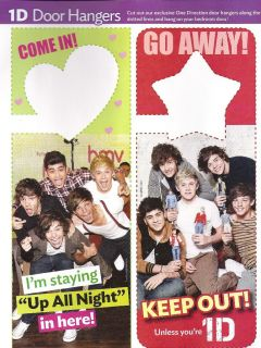 NEW   8 One Direction 1D Up All Night Door Hangers * Cute, Sexy & Hard