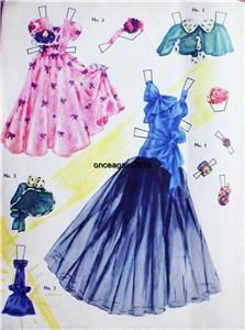 Original Vintage 1946 Miss Silver Screen Paper Dolls not A Repro RARE