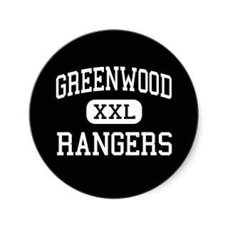 Greenwood   Rangers   High School   Midland Texas Sticker