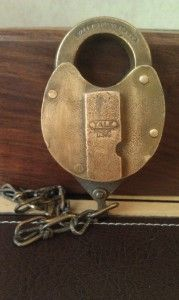 Antique Yale Towne Brass Padlock Signed