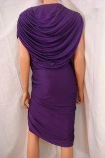 Phillip Lim Pleated Goddess Dress New $995 10 Purple Draped Jersey