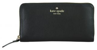 Kate Spade Litchfield Black Leather Lacey Wallet New