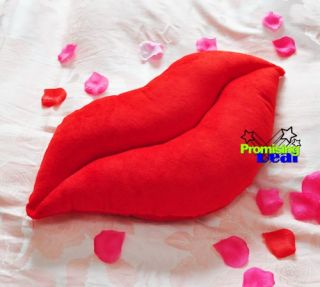 20 Huge Soft Stuffed Lips Plush Cushions Nap Pillow Red