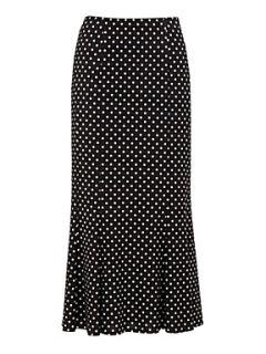Precis Petite Polka Dot Jersey Skirt Black