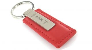 Lincoln MKT Red Leather Rectangular Key Chain